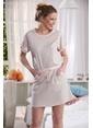 Sevim Emprime Kadın Elbise Pembe
